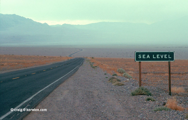 Sea level, Death Valley