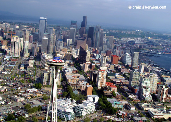 Seattle skyline from the air