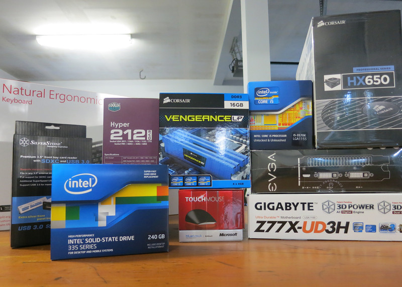 view of custom PC build components