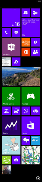 My WP8 start screen