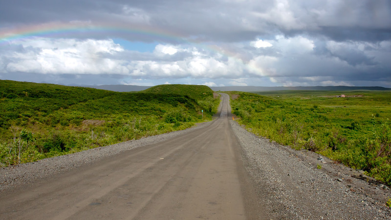 Rainbow on Denali Highway