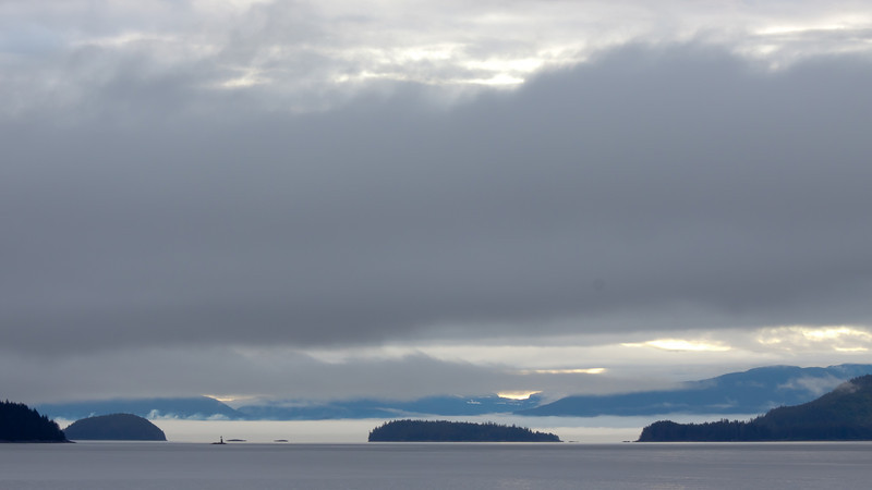 Clouds and fog over the Inside Passage