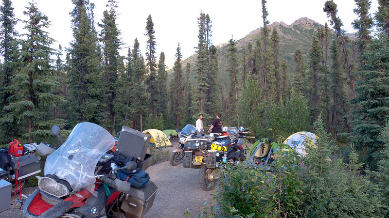 Marion Creek campground outside Coldfoot
